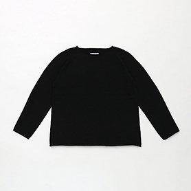 オーガニック ヤクコットン プルオーバーニット / ブラック