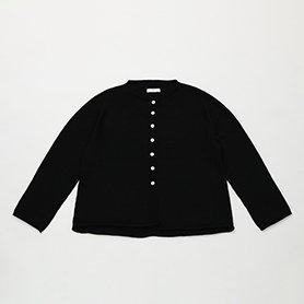 オーガニック ヤクコットン カーディガン / ブラック