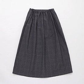 ウールリネンウェザースカート