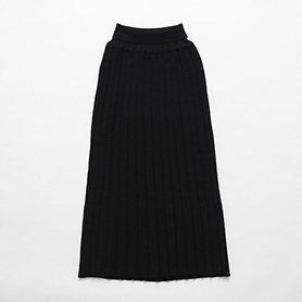 エクストラファインウールプリーツスカート / ブラック