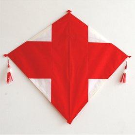 長崎凧 十字 赤