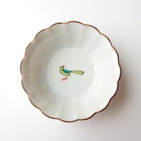 菊小鉢 / 小鳥