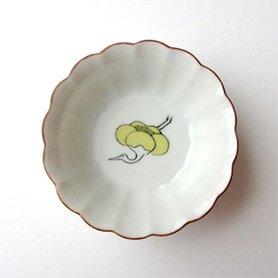菊小鉢 / 梅に鶴