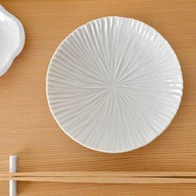 白磁 内しのぎ 4.5寸皿