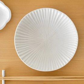白磁 内しのぎ 5.5寸皿