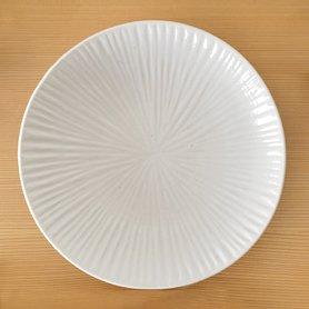 白磁 内しのぎ 6.5寸皿