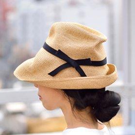 BOXED HAT 101 / ミックスブラウン×ブラックリボン