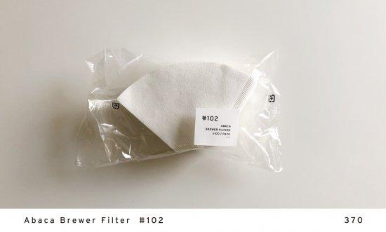 Abaca Brewer Filter  #102
