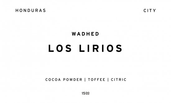 LOS LIRIOS    HONDURAS  /200g