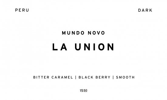 LA UNION - DARK -     PERU  /200g