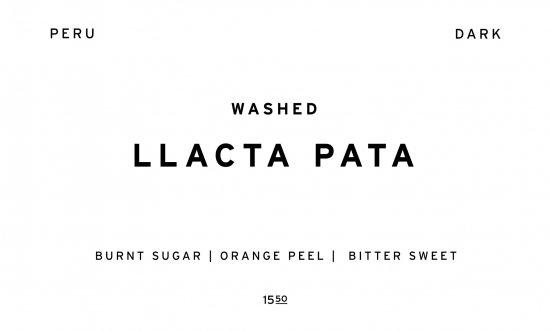 LLACTA PATA - DARK ROAST -     PERU  /200g