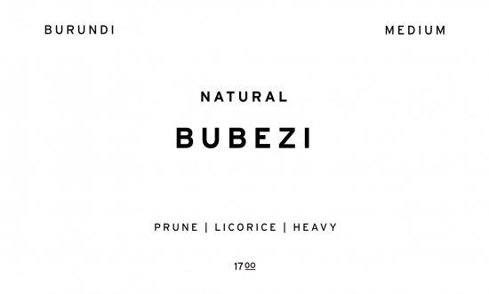 BUBEZI     BURUNDI  /200g
