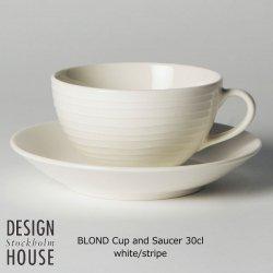 DESIGN HOUSE Stockholm BLOND C&S 30cl stripe / デザインハウス ブロンド・カップ&ソーサー 30cl ストライプ