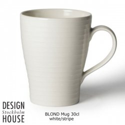 DESIGN HOUSE Stockholm BLOND Mug cup stripe / デザインハウス ブロンド・マグカップ 30cl ストライプ