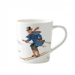 Elsa Beskow エルサべスコフ 手付きマグカップ Uncle blue skiing 青おじさんのスキー デザインハウス ストックホルム / DESIGN HOUSE Stockholm