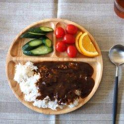 木製食器 カフェプレート ランチプレート ROUND(Lサイズ)