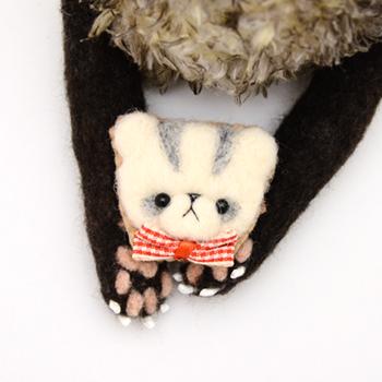 【ブレイズ】羊毛フェレット キーホルダー・ブローチ