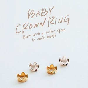 <img class='new_mark_img1' src='https://img.shop-pro.jp/img/new/icons14.gif' style='border:none;display:inline;margin:0px;padding:0px;width:auto;' />BABY CROWN RING / under the rose