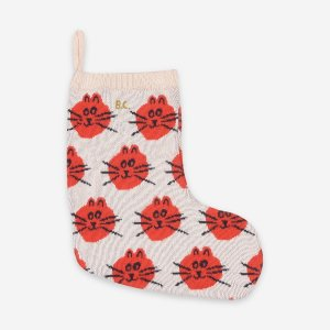 <img class='new_mark_img1' src='https://img.shop-pro.jp/img/new/icons20.gif' style='border:none;display:inline;margin:0px;padding:0px;width:auto;' />30%OFF  CAT JACQUARD FUN KNITTED SOCK /  BOBO CHOSES aw20 FUN COLLECTION CAPSULE