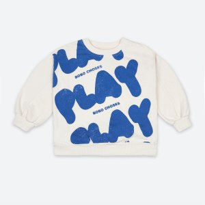 <img class='new_mark_img1' src='https://img.shop-pro.jp/img/new/icons14.gif' style='border:none;display:inline;margin:0px;padding:0px;width:auto;' />Play All Over Sweatshirt /  BOBO CHOSES SS21
