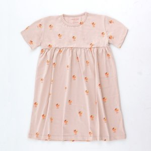 <img class='new_mark_img1' src='https://img.shop-pro.jp/img/new/icons14.gif' style='border:none;display:inline;margin:0px;padding:0px;width:auto;' />ICE CREAM CUP DRESS / dusty pink papaya / tiny cottons 2021ss