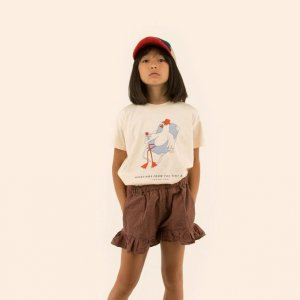 <img class='new_mark_img1' src='https://img.shop-pro.jp/img/new/icons14.gif' style='border:none;display:inline;margin:0px;padding:0px;width:auto;' />BIRD GRAPHIC TEE/ light cream / tiny cottons 2021ss