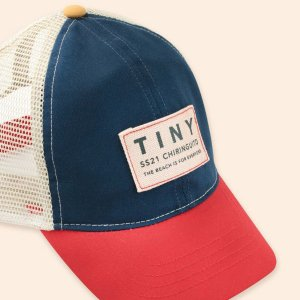 <img class='new_mark_img1' src='https://img.shop-pro.jp/img/new/icons20.gif' style='border:none;display:inline;margin:0px;padding:0px;width:auto;' />30%OFF COLOR BLOCK TINY CAP /  tiny cottons 2021SS