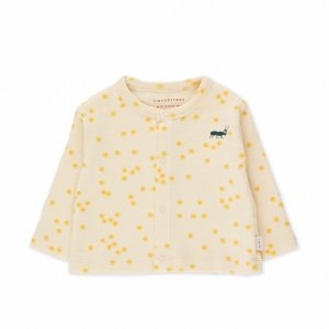 <img class='new_mark_img1' src='https://img.shop-pro.jp/img/new/icons14.gif' style='border:none;display:inline;margin:0px;padding:0px;width:auto;' /> daisies bady cardigan / light cream bamboo yellow / tiny cottons 2021aw