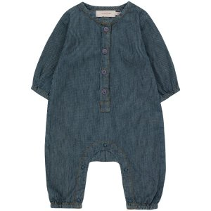 <img class='new_mark_img1' src='https://img.shop-pro.jp/img/new/icons14.gif' style='border:none;display:inline;margin:0px;padding:0px;width:auto;' /> stripes denim one-piece / tiny cottons 2021aw