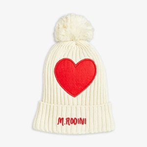 <img class='new_mark_img1' src='https://img.shop-pro.jp/img/new/icons14.gif' style='border:none;display:inline;margin:0px;padding:0px;width:auto;' />HEART POMPOM HAT / OFF WHITE / mini rodini 2021aw
