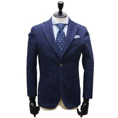 デニムスーツ<br>【GENTE】(NAVY・ネイビー)スーツ<br>セルビッチ12ozデニム使用