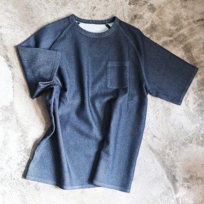 オーダーデニムポケット付きTシャツ<br>オーダーTシャツ デニムTシャツ