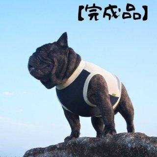 【完成品・即発送】クールタンク/シンプル/グレー×紺/ちびラーナくん