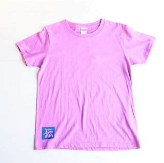 伝七プリントのTシャツ/レディース/カラー:ラベンダー