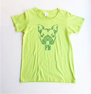 伝七フロントプリントのTシャツ/レディース/カラー:グリーン