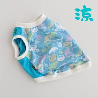 【ぴったりサイズ】クールタンク/ 海月 KURAGE/ブルー