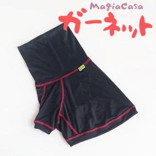 【ぴったりサイズ】 マージァカーザ ガーネット/黒×紅色のステッチ/MagiaCasa/予約限定販売