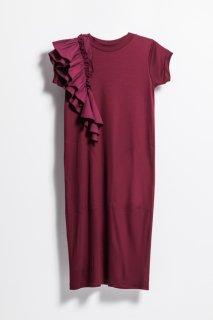 <br/>Frill onepiece dress<br/>/Bordeaux