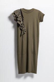 <br/>Frill onepiece dress<br/>/Khaki