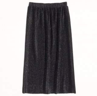 Glitter pleat skirt<br>Black