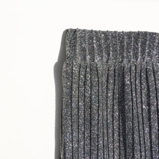 Glitter pleat skirt<br>Silver