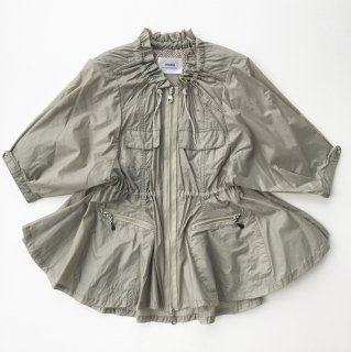 Fisherman Flared Blouson<br/>/Khaki