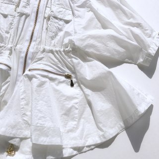 Fisherman Flared Blouson<br/>/White