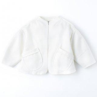 Waffle Tweed Jacket<br/>/White