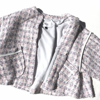 Fancy Tweed Jacket<br/>/Pink