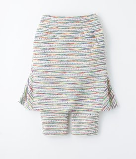 Colorful Tweed Back Flare Skirtpants<br/>/MIX