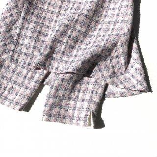Fancy Tweed Back Flare Skirtpants<br/>/Pink