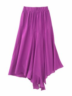 <br/>Irregular hem Skirt<br/>/Purple