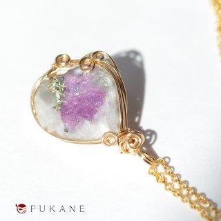 【一点もの】14KGFワイヤーラップ原石ペンダント/ルビー母岩付き(タジキスタン産)
