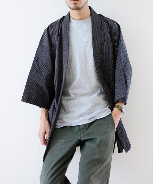 野良着 アンティーク着物 縞 40〜50年代 ジャパンヴィンテージ | Noragi Antique Kimono 40〜50s Japan Vintage